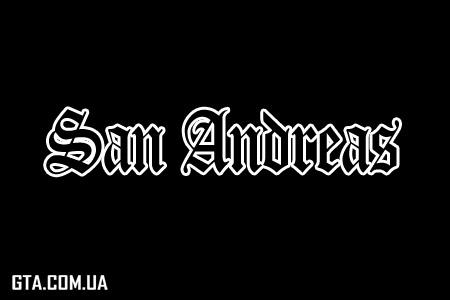 Оригинальный шрифт GTA San Andreas