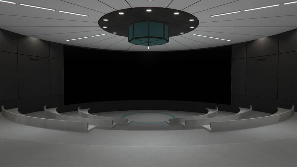 Зал для планирования ограбления «Судного дня» на подземной базе