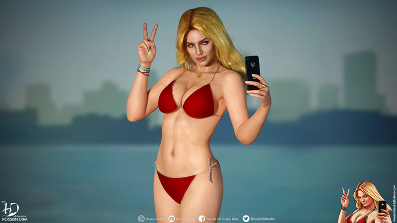 Beach Girl GTA5 3D
