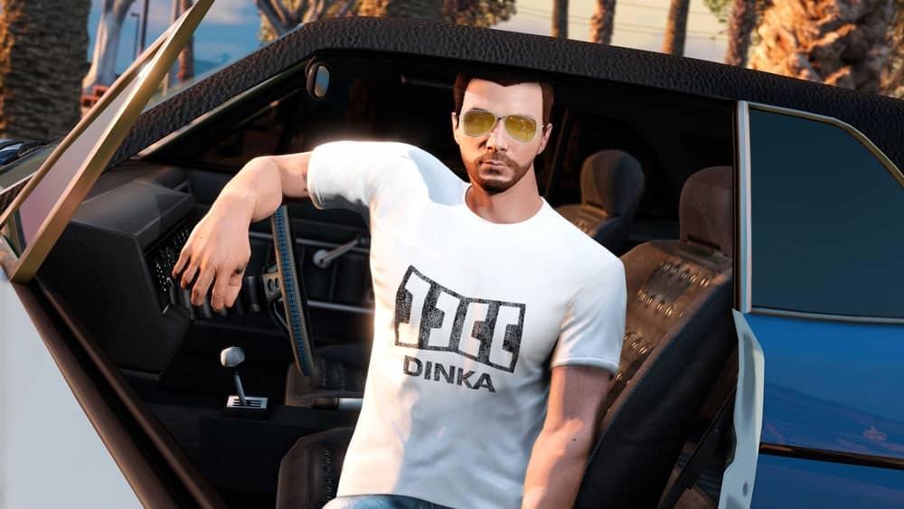 Застиранная белая футболка Dinka