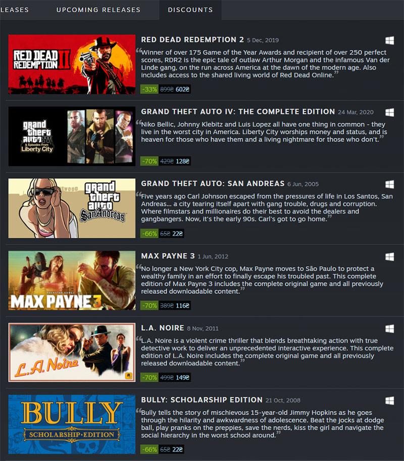 Скидки: летняя распродажа в Steam