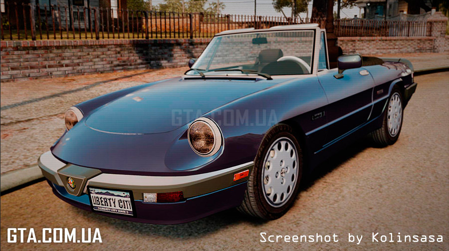 alfa romeo spider 115 1986 gta 4. Black Bedroom Furniture Sets. Home Design Ideas