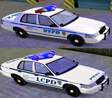 NYPD & LCPD Ford Crown Victoria