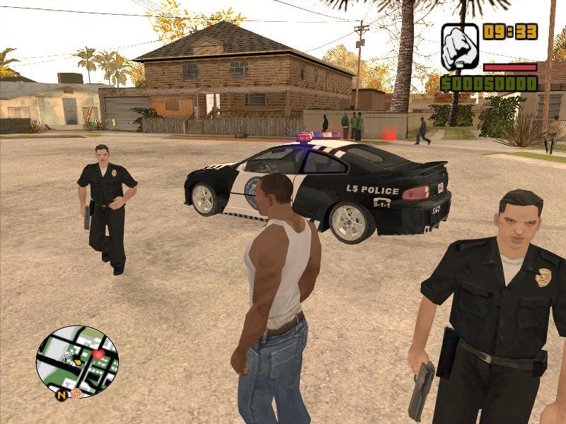 Скачать мод на гта санандрес на работу в полиции