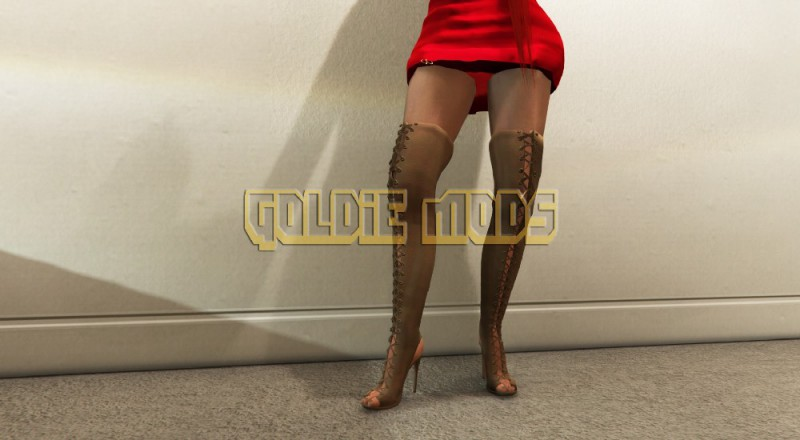 MP Female High Heel Lace Boots v1.0