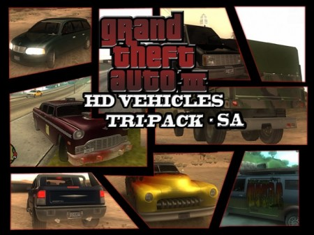 GTA3 HD Vehicles Tri-Pack San Andreas