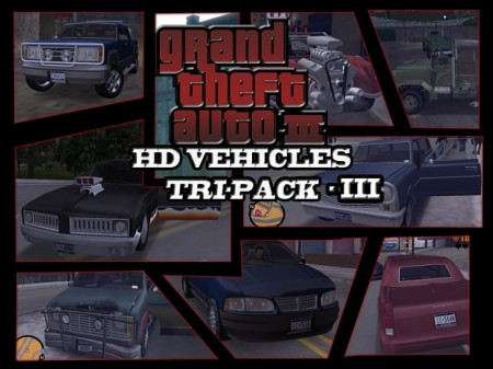 GTA3 HD Vehicles Tri-Pack III