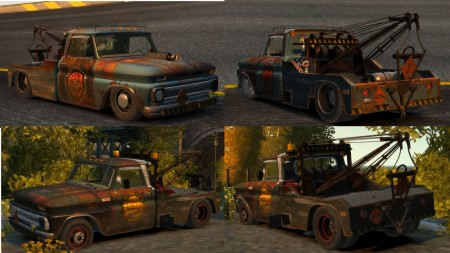Chevrolet Tow-Truck Rusty x2