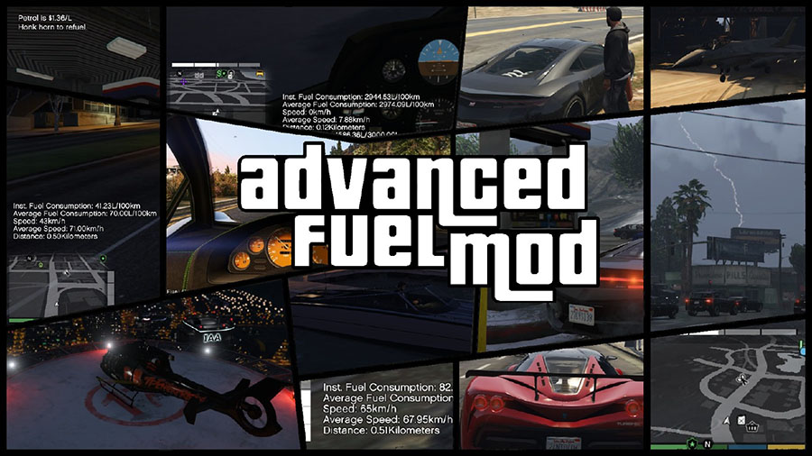 Advanced Fuel Mod v1.11 для GTA V - Скриншот 1