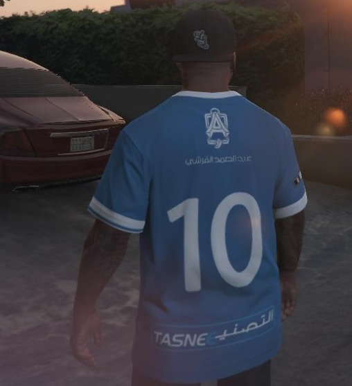 Al-Hilal Football Club T-Shirt для GTA V - Скриншот 2