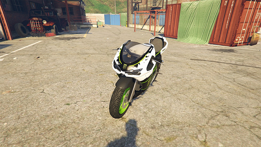Yamaha R1 - Monster Energy (Bati) для GTA V - Скриншот 2