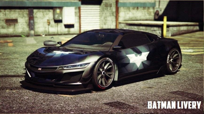 Dinka Jester - Batman Poly Style Livery v1.0 для GTA V - Скриншот 1