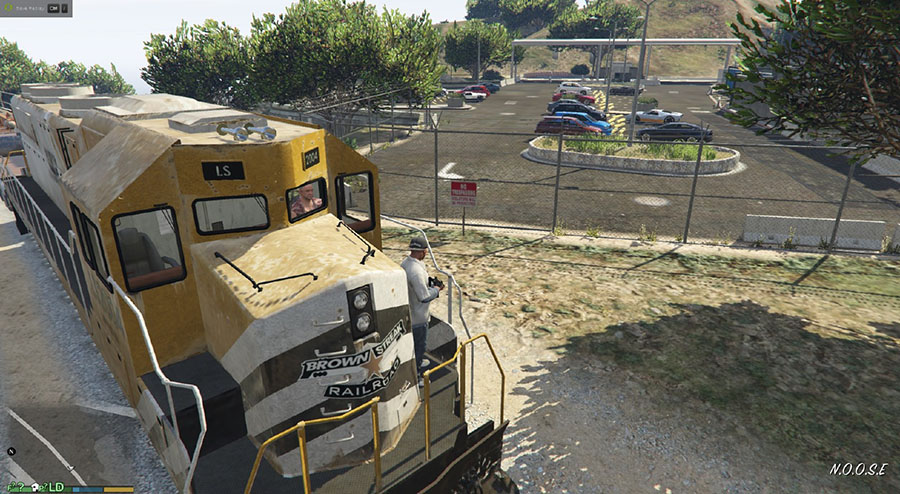 Brown Streak livery for Freight Train для GTA V - Скриншот 3
