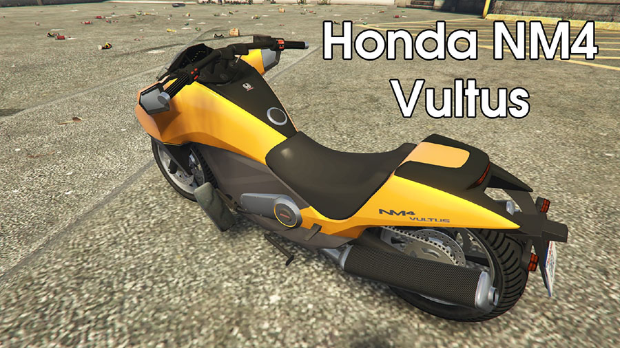 Dinka Vindicator Honda NM4 Vultus для GTA V - Скриншот 1