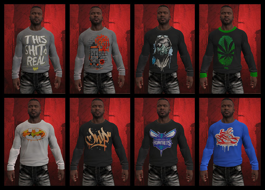 Franklin BIG Clothes Pack v2.0 для GTA V - Скриншот 1