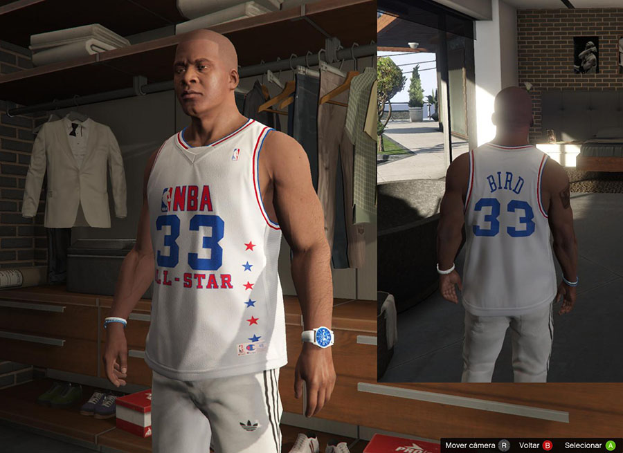 Franklin Shirts Pack NBA Special / Футболки NBA для GTA V - Скриншот 1