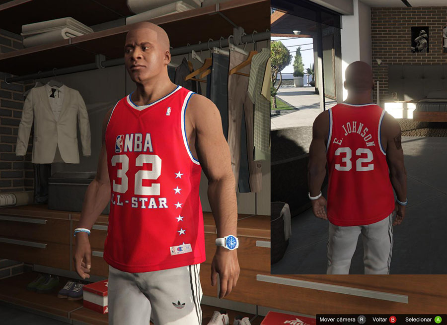 Franklin Shirts Pack NBA Special / Футболки NBA для GTA V - Скриншот 2