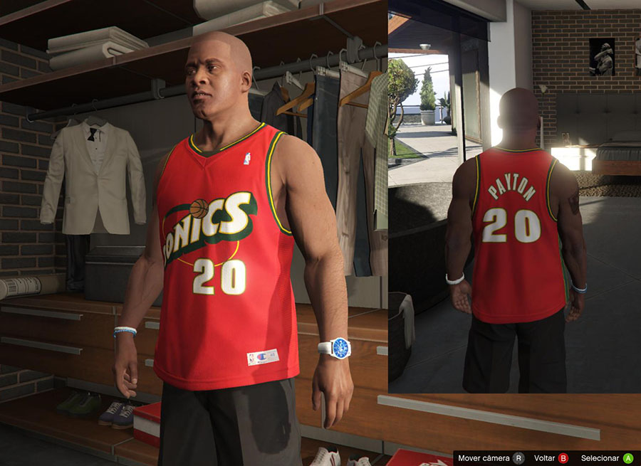 Franklin Shirts Pack NBA Oldies для GTA V - Скриншот 3