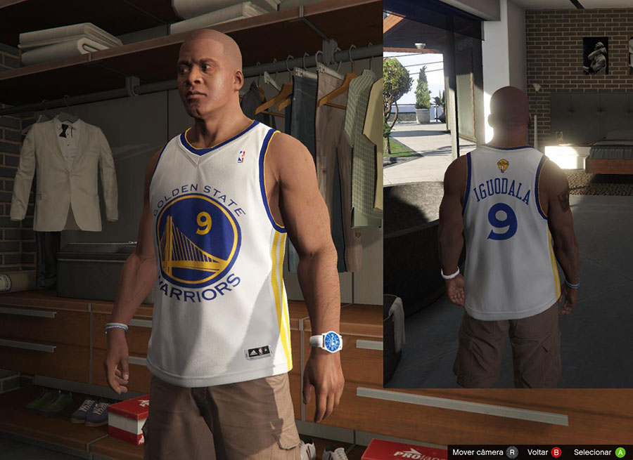 Franklin Shirts pack NBA 2015 The Finals для GTA V - Скриншот 1