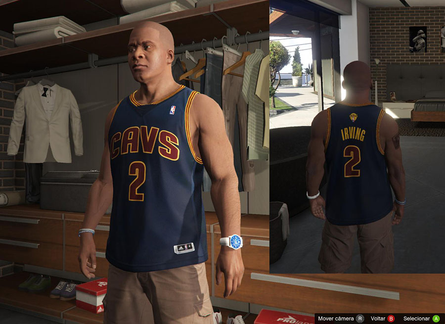 Franklin Shirts pack NBA 2015 The Finals для GTA V - Скриншот 3
