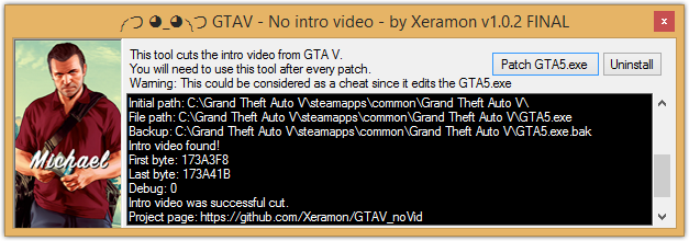 GTAV No Intro Video v1.0.2