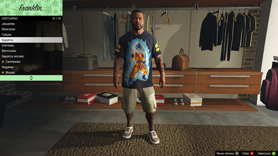 Goku SSGSS T-shirt for Franklin для GTA V - Скриншот 1