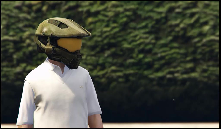 "Master Chief Helmet / Шлем из ""Halo"" для GTA V - Скриншот 2"
