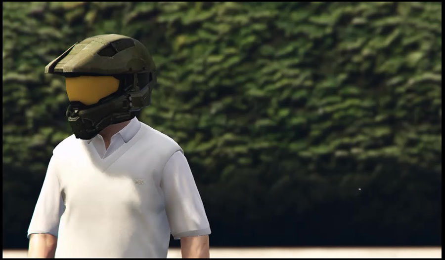 "Master Chief Helmet / Шлем из ""Halo"" для GTA V - Скриншот 3"