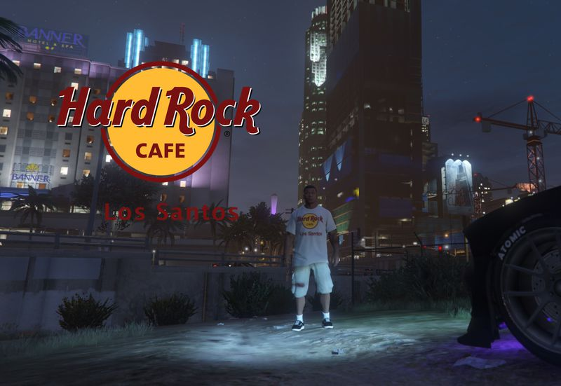 Hard Rock Cafe T-Shirts для GTA V - Скриншот 1