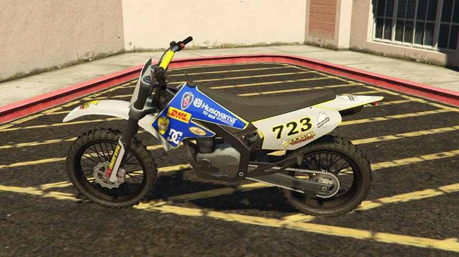 Husqvarna TC 450 for Sanchez для GTA V - Скриншот 1