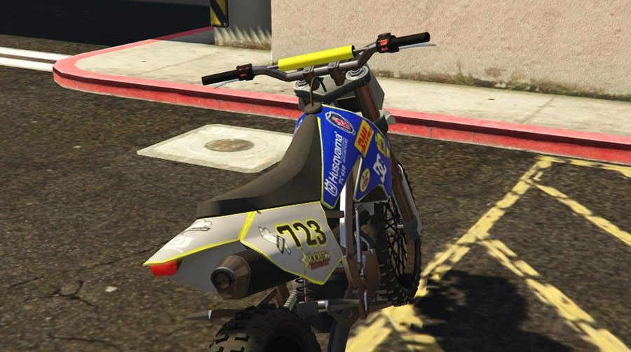 Husqvarna TC 450 for Sanchez для GTA V - Скриншот 2