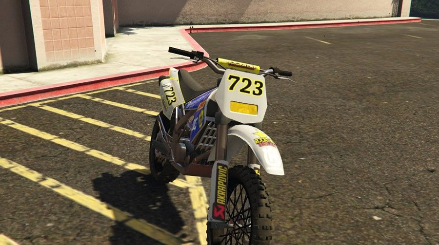 Husqvarna TC 450 for Sanchez для GTA V - Скриншот 3