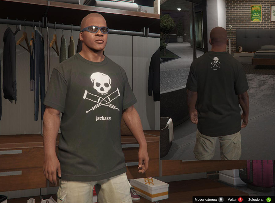 Jackass Shirts for Franklin v2.0 для GTA V - Скриншот 1
