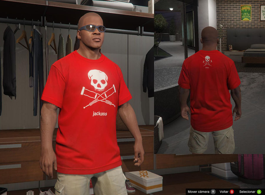 Jackass Shirts for Franklin v2.0 для GTA V - Скриншот 2
