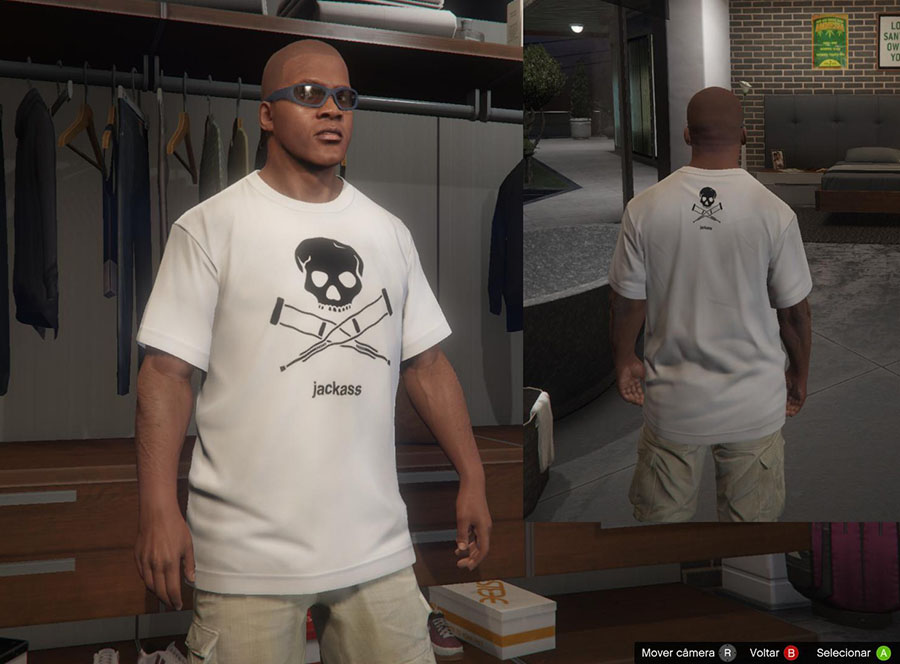 Jackass Shirts for Franklin v2.0 для GTA V - Скриншот 3