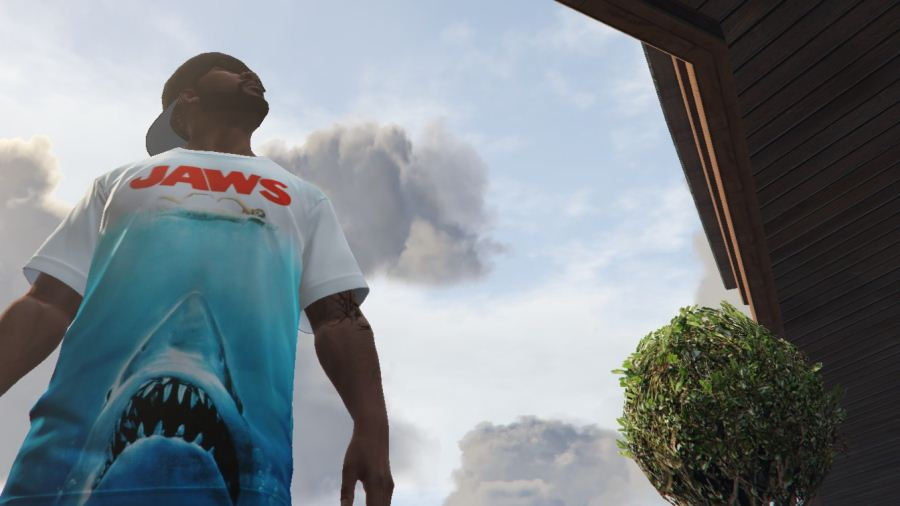 Jaws T-shirt for Franklin для GTA V - Скриншот 1