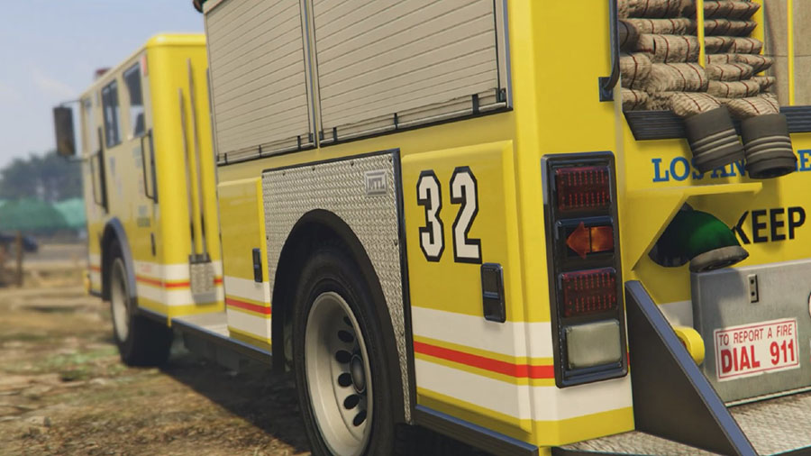 Los Angeles Fire Truck Mod для GTA V - Скриншот 1