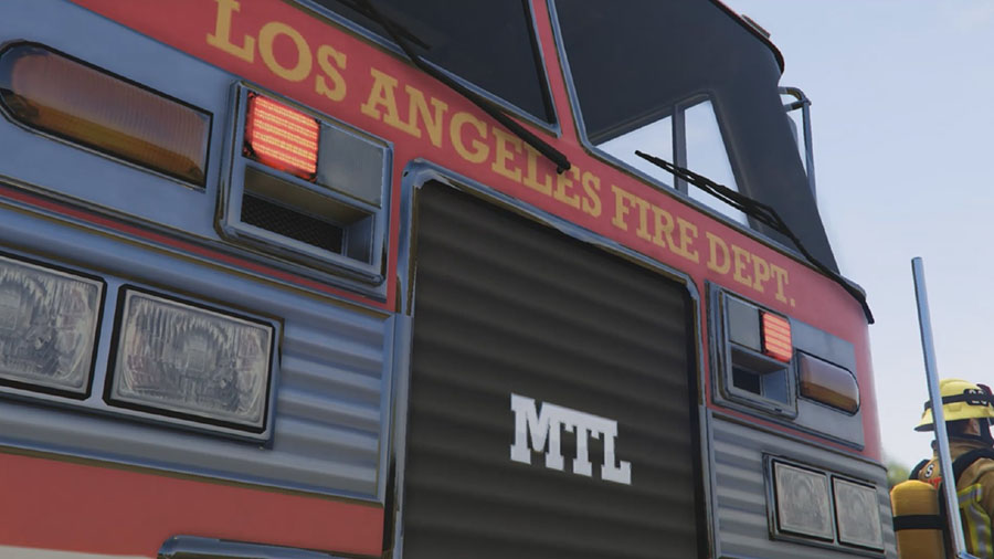 Los Angeles Fire Truck Mod для GTA V - Скриншот 2