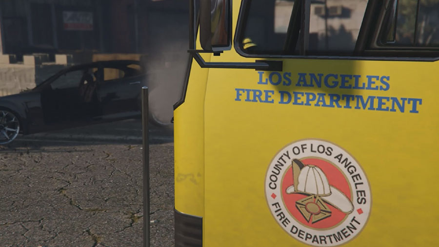 Los Angeles Fire Truck Mod для GTA V - Скриншот 3