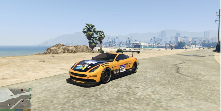 Vantage V12 GT3 livery for Massacro v1.5 для GTA V - Скриншот 1