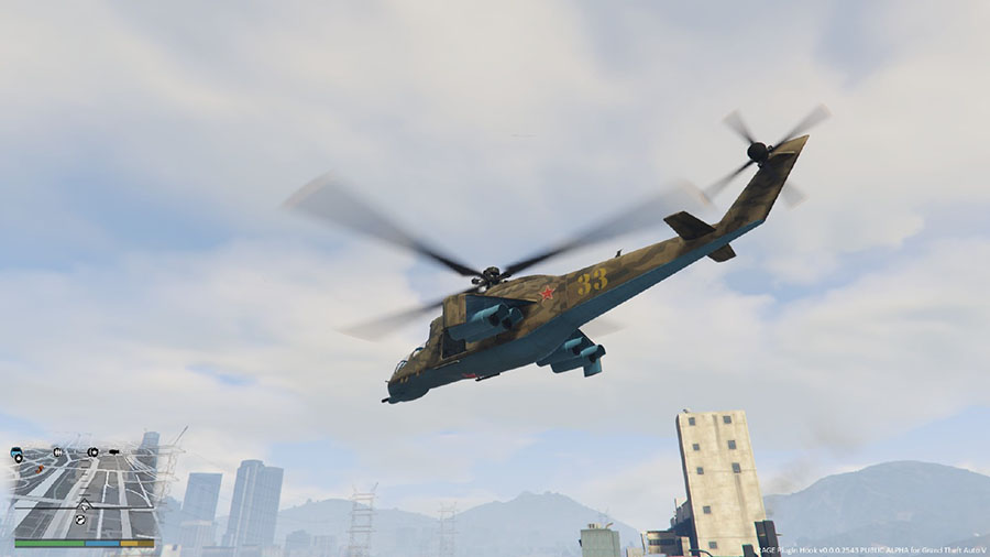 Mi 24 Hind E Retexture for Savage Attack Helicopter v0.1a для GTA V - Скриншот 2