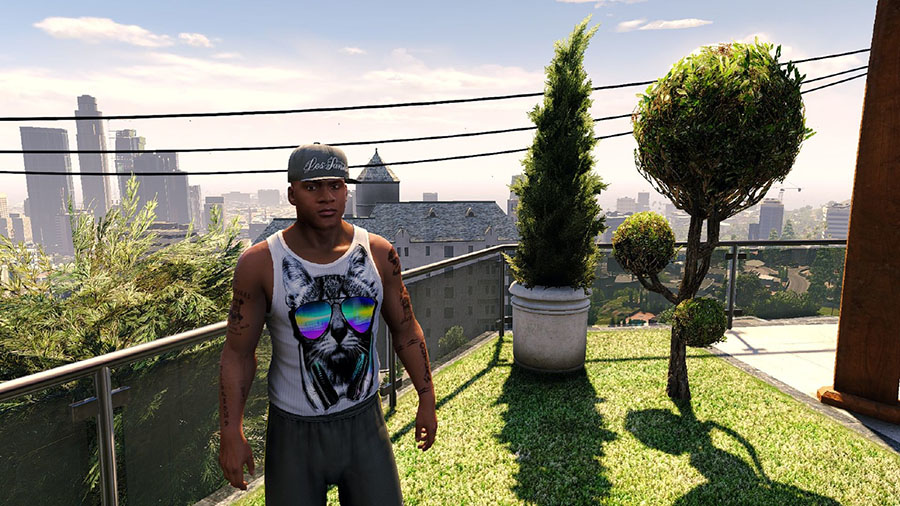 Music Lover Cat Tank Top для GTA V - Скриншот 1