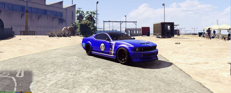 Mustang Trans-Am Race Car Livery for Dominator v1.4 для GTA V - Скриншот 1