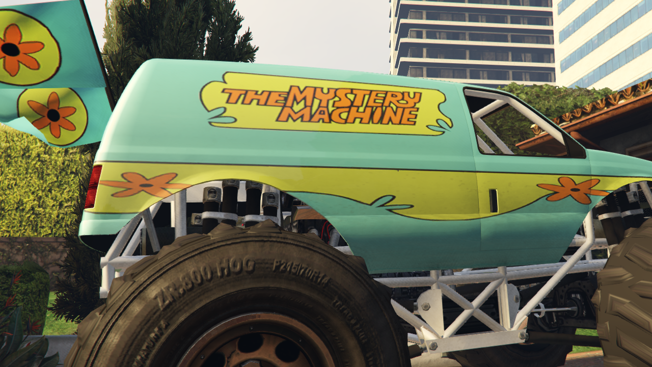Mystery Machine Monster Truck From Scooby Doo для GTA V - Скриншот 3