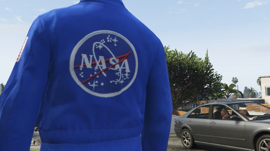NASA Pedestrian W/7 Face Variations для GTA V - Скриншот 2
