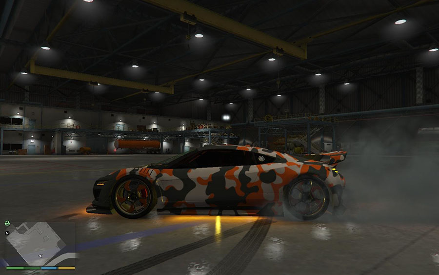 Orange Jester Camo (HD) v5.6.1 для GTA V - Скриншот 1