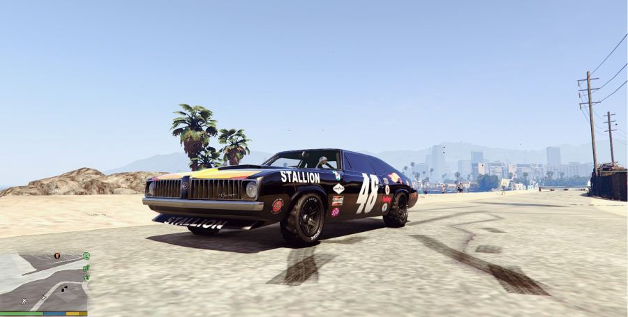 Plymouth Cuda Trans-Am livery for Stallion 4K v1.2 для GTA V - Скриншот 2