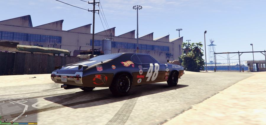 Plymouth Cuda Trans-Am livery for Stallion 4K v1.2 для GTA V - Скриншот 3