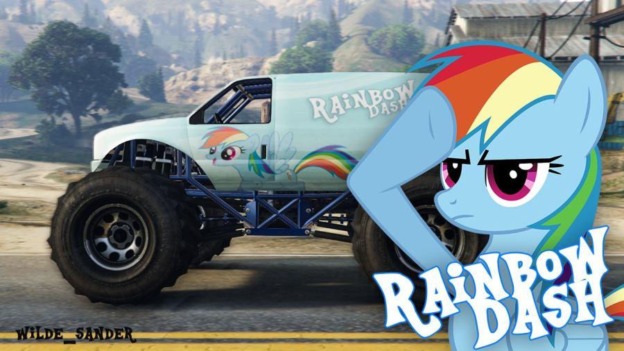 My Little Pony Rainbow Dash Liberator v2.0 для GTA V - Скриншот 1