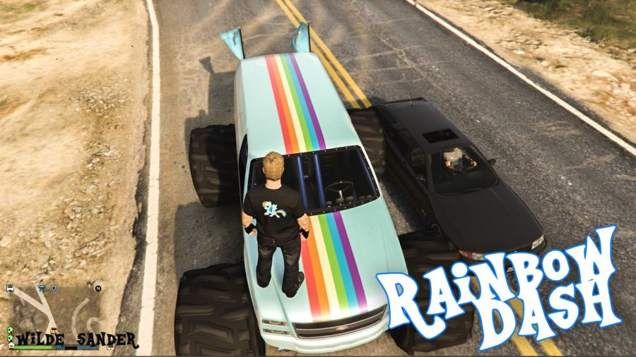 My Little Pony Rainbow Dash Liberator v2.0 для GTA V - Скриншот 3